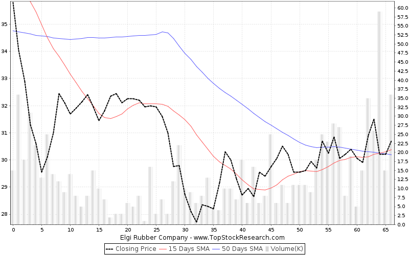 ThreeMonths Chart for Elgi Rubber Company