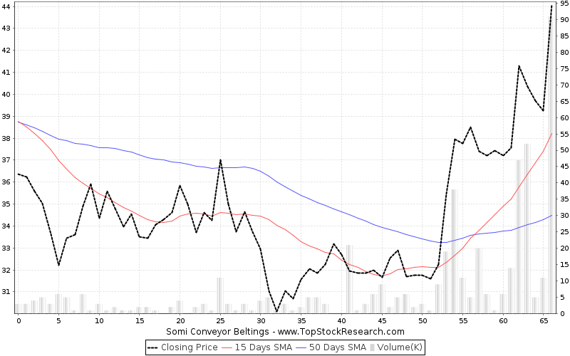 ThreeMonths Chart for Somi Conveyor Beltings