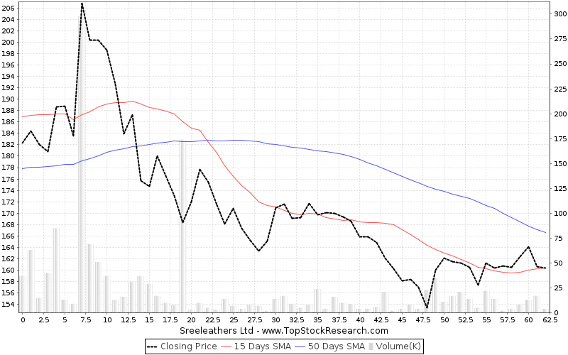 ThreeMonths Chart for Sreeleathers Ltd